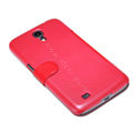 Nillkin Fresh leather Case Holster Cover Skin for Samsung I9200 Galaxy Mega 6.3 - Red