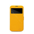 Nillkin Fresh leather Case Holster Cover Skin for Samsung I9200 Galaxy Mega 6.3 - Yellow