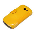 Nillkin Fresh leather Case Holster Cover Skin for Samsung S7898 - Yellow