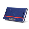 Nillkin Simplicity leather Case Stand Holster Cover Skin for HTC One 802t - Blue