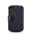 Nillkin Victory leather Case Button Holster Cover Skin for BlackBerry Q10 - Black