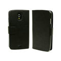 Flip leather Case Holster Covers for Samsung i9250 Galaxy Nexus - Black