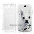 IMAK Painting Relievo Case Cut dog Battery Cover for Samsung N7100 GALAXY Note2 - White