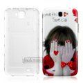 IMAK Painting Relievo Case Cut girl Battery Cover for Samsung N7100 GALAXY Note2 - Red