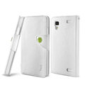 IMAK R64 book leather Case support flip Holster Cover for BBK vivo Xplay X510w X5 - White