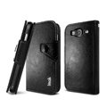 IMAK R64 book leather Case support flip Holster Cover for Samsung I9150 Galaxy Mega 5.8 - Black