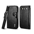 IMAK R64 book leather Case support flip Holster Cover for Samsung i939D GALAXY SIII - Black