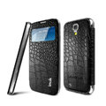IMAK Smart Leather Case Flip Holster Battery Cover for Samsung GALAXY S4 I9500 SIV - Black
