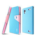 IMAK cross Flip leather case book Holster folder cover for BBK vivo Xplay X510w X5 - Blue