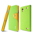 IMAK cross Flip leather case book Holster folder cover for BBK vivo Xplay X510w X5 - Green