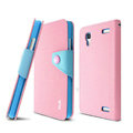 IMAK cross Flip leather case book Holster folder cover for BBK vivo Xplay X510w X5 - Pink