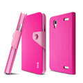 IMAK cross Flip leather case book Holster folder cover for BBK vivo Xplay X510w X5 - Rose