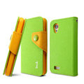 IMAK cross Flip leather case book Holster folder cover for HTC T328t Desire VT - Green