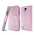 IMAK golden silk book leather Case support flip Holster Cover for Samsung GALAXY S4 I9500 SIV - Pink