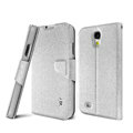 IMAK golden silk book leather Case support flip Holster Cover for Samsung GALAXY S4 I9500 SIV - Sliver