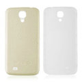Leather Case PC Battery Back Cover Housing For Samsung I9500 GALAXY SIV S4 - Beige