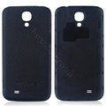 Leather Case PC Battery Back Cover Housing For Samsung I9500 GALAXY SIV S4 - Black
