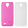 Leather Case PC Battery Back Cover Housing For Samsung I9500 GALAXY SIV S4 - Pink