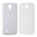 Leather Case PC Battery Back Cover Housing For Samsung I9500 GALAXY SIV S4 - White