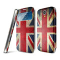 IMAK Flip Leather Case Holster Painting Battery Cover for Samsung I9190 GALAXY S4 Mini - British Flag