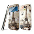 IMAK Flip Leather Case Holster Painting Battery Cover for Samsung I9190 GALAXY S4 Mini - Pylon