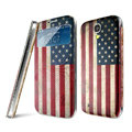 IMAK Flip Leather Case Holster Painting Battery Cover for Samsung I9190 GALAXY S4 Mini - USA American Flag