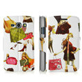 IMAK Flip Painting leather Case support Holster Cover for Samsung i829 Galaxy Style Duos - White