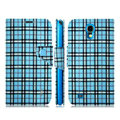 IMAK Flip leather case plaid pattern book Holster cover for Samsung I9200 Galaxy Mega 6.3 - Blue