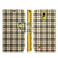 IMAK Flip leather case plaid pattern book Holster cover for Samsung I9200 Galaxy Mega 6.3 - Yellow
