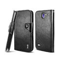 IMAK R64 Flip leather Case support Holster Cover for Coolpad 9070+XO - Black