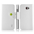 IMAK R64 Flip leather Case support Holster Cover for HTC Butterfly S 901e - White