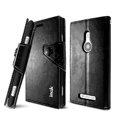 IMAK R64 Flip leather Case support Holster Cover for Nokia Lumia 925T 925 - Black