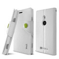 IMAK R64 Flip leather Case support Holster Cover for Nokia Lumia 925T 925 - White