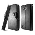 IMAK R64 Flip leather Case support Holster Cover for Samsung I869 Galaxy Win - Black
