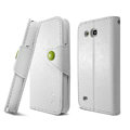 IMAK R64 Flip leather Case support Holster Cover for Samsung I869 Galaxy Win - White