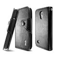 IMAK R64 Flip leather Case support Holster Cover for Samsung I9190 GALAXY S4 Mini - Black