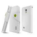 IMAK R64 Flip leather Case support Holster Cover for Samsung I9190 GALAXY S4 Mini - White