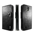 IMAK R64 Flip leather Case support Holster Cover for Samsung I9200 Galaxy Mega 6.3 - Black
