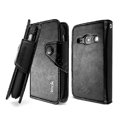 IMAK R64 Flip leather Case support Holster Cover for Samsung S6810 Galaxy Fame - Black