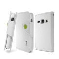 IMAK R64 Flip leather Case support Holster Cover for Samsung S6810 Galaxy Fame - White
