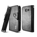 IMAK R64 Flip leather Case support Holster Cover for Samsung S7898 - Black