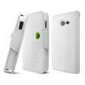 IMAK R64 Flip leather Case support Holster Cover for Samsung S7898 - White