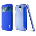 IMAK Shell Flip Leather Case Holster Cover Skin for Samsung I9190 GALAXY S4 Mini - Blue
