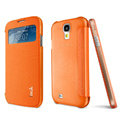 IMAK Shell Flip Leather Case Holster Cover Skin for Samsung I9190 GALAXY S4 Mini - Orange