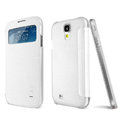 IMAK Shell Flip Leather Case Holster Cover Skin for Samsung I9190 GALAXY S4 Mini - White