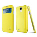 IMAK Shell Flip Leather Case Holster Cover Skin for Samsung I9190 GALAXY S4 Mini - Yellow