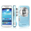 IMAK Ultrathin Clear Matte Color Cover Case for Samsung C101 GALAXY SIV Zoom - Blue