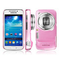 IMAK Ultrathin Clear Matte Color Cover Case for Samsung C101 GALAXY SIV Zoom - Pink