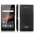 IMAK Ultrathin Matte Color Cover Hard Case for Sony Ericsson S39h Xperia C - Black