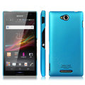 IMAK Ultrathin Matte Color Cover Hard Case for Sony Ericsson S39h Xperia C - Blue